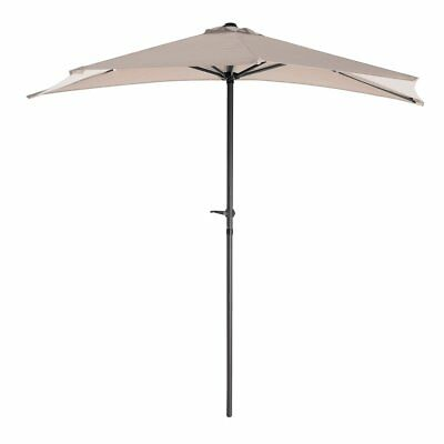 Special aluminum folding parasol for balcony or terrace in beige