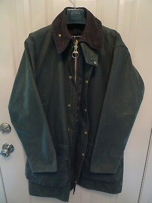 Barbour- A400  Northumbria Waxed Cotton Jacket-Made In England-Size 40