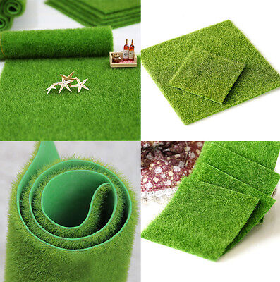 Artificial Grass Fake Lawn Simulation Miniature Garden Ornament Dollhouse Newly