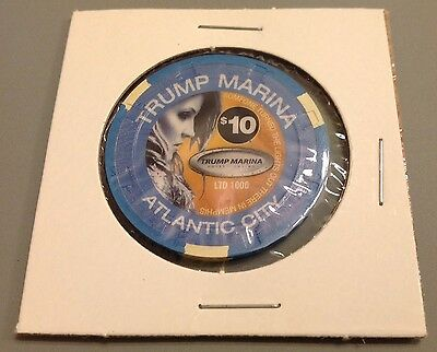 $10 Lisa Marie Presley 2003 Sealed Rare Trump Marina Casino Chip Limited 1000
