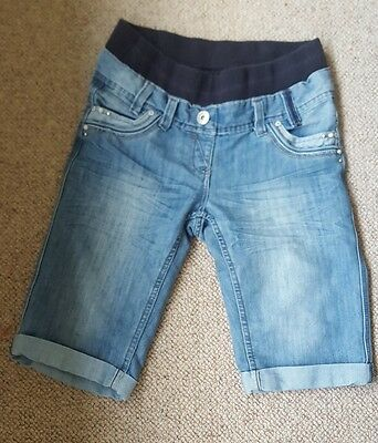womens denim SHORTS maternity UNDER BUMP size 8