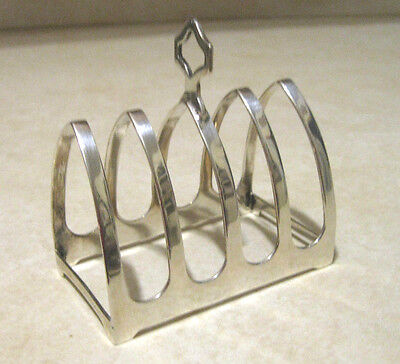 Sterling Silver Small Letter Holder / English Toast Rack