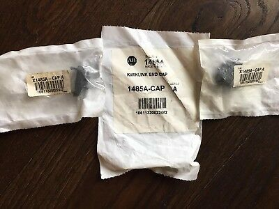 New Lot (3) Allen Bradley 1485A-Cap Series A Kwik Link End Cap