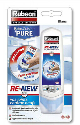Rubson Mastic Sanitaires Bain & Cuisine Pure/ Re-New - Tube de 100 ml Blanc