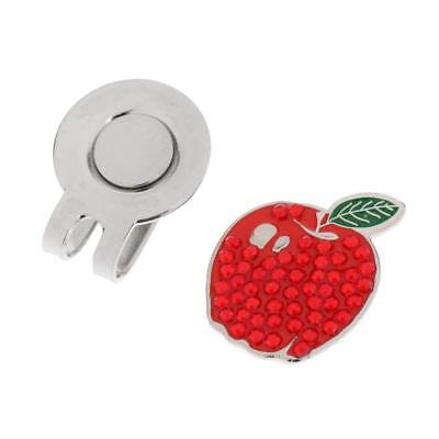 New Red Apple Pattern Golf Ball Marker With Magnetic Hat Clip Golf Gifts