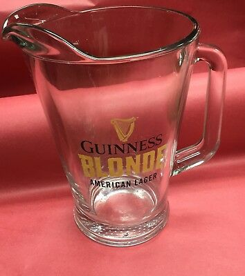 Guinness Blonde Glass Beer Pitcher