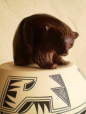 Large Hand Carved Ironwood Solid Wood Bear Spirit Symbol Figure
