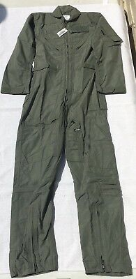 New USAF CWU-27/P Flight Suit Coveralls Sage Green Womens 32WL 32 Long Nomex