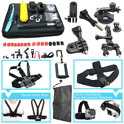 60 in 1 Accessories Kit for GoPro Hero 5 4 3 2 Action Camera Bundle Set SJCAM