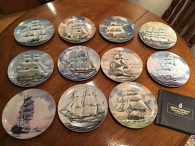 Great American Sailing Ship Plates -The Rosenthal Group for Danbury Mint