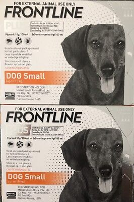Frontline Plus 6 Months Supply For Small Dogs 0-22lbs (0-10kg) By Merial, New!