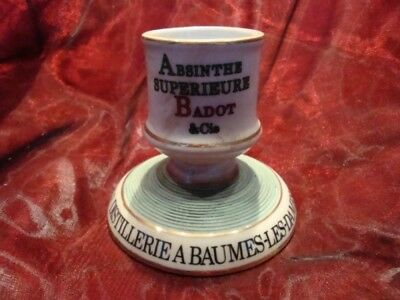 Pyrogene Advertising Absinthe Bar Matches Match Striker Holder Porcelain Ceramic