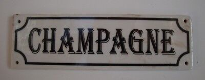 Door Plate Advertising Champagne Bar French Style Porcelain
