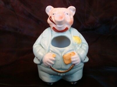 Pencil holder Figurine Pig Wildlife Art Deco-German Style Art Nouveau Style Porc