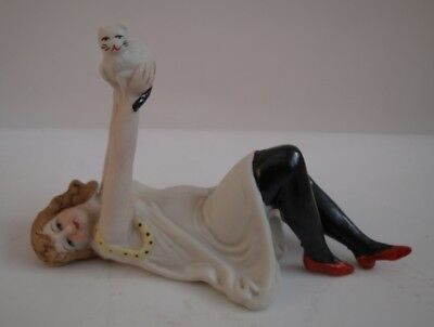 Figurine Chat Baigneuse Pin-up Sexy Style Art Deco-allemand Style Art Nouveau