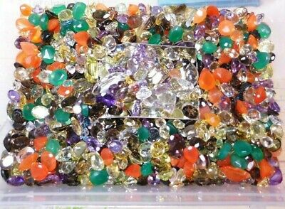 100.00Ct Parcel Natural Faceted Gems MIxed Sizes and Shapes