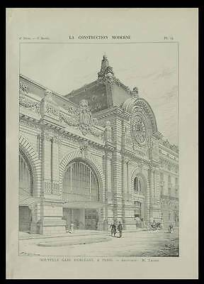 Paris Gare D'orsay, Musee D'orsay  - 1900 - Planche Architecture - Victor Laloux