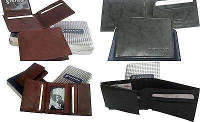 Stafford Men's Leather Card Case Wallet