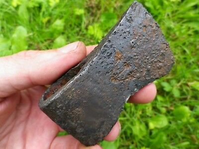 (1100 Ad): France - Viking Medieval Axe Head With Star Marks - Rare !!!