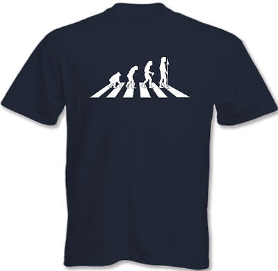 The Beatles Evolution Abbey Road - Mens Funny T-Shirt