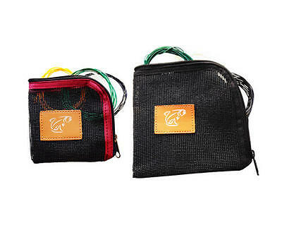 New Fishoot Polyleader Fly Lines / Shooting Heads Tippet Mesh Wallet - Size S/L