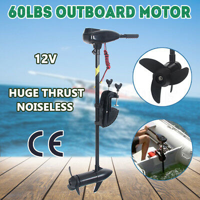 NEW 60LBS Electric Trolling Motor Outboard Engine Inflatable Boat Fishing Marine