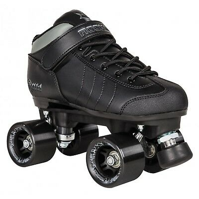 Rookie Raw Roller Derby Quad Skates - Black