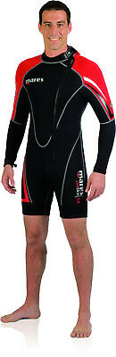 Mares Mens 2nd Skin Shorty Wetsuit Scuba Diving Snorkeling Watersports 412512
