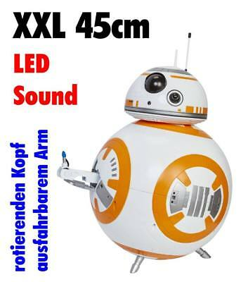 Star Wars Deluxe Droide BB-8 Figur XXL Giant Size 45cm LED SOUND Bewegung
