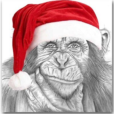 Chimp Christmas Card