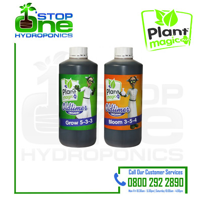 PLANT MAGIC OLD TIMER GROW & BLOOM 1L Complete Organic nutrient