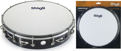 Stagg TAB-112P/BK 12 Zoll stimmbares Kunststoff Tambourin