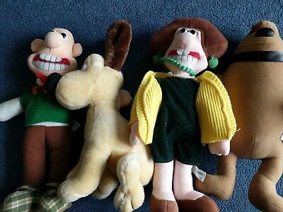 1989 Wallace and Gromit, Wendolene and Preston Plushes