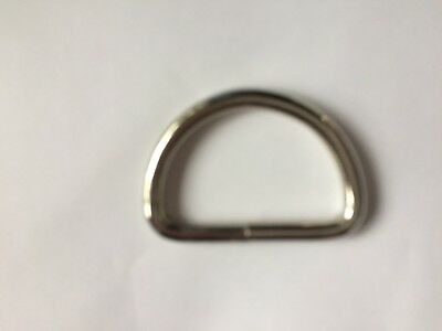 2  x 37mm (1.5 inches)  chrome coloured welded D ring Buckles for webbing