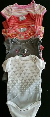 One-piece outfits. Girls newborn size. Mixed lot 5 items.