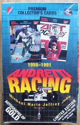 1992 Collect-A-Card Trading Cards: ANDRETTI  RACING (Factory Sealed Box of 36)