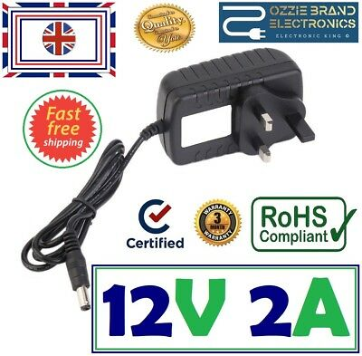 Uk 12V Ac/dc Power Supply Adapter Charger For Sealey Rs125.c Roadstart Rs125