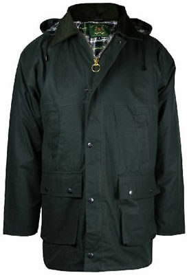 Mens New Countryman Padded Cotton Wax Hooded Jacket Top Hunting Fishing Farming