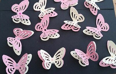 24x Baby Shower Birthday Table Decorations 3D Butterflies Pink And Yellow