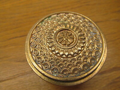 Old Eastlake ?? Brocade ?? Brass ?? Bronze ?? Door Knob...ornate Detail...
