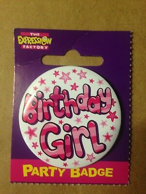 Birthday Celebration Party Badge Birthday Girl