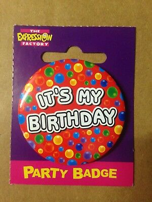 Birthday Celebration Party Badge it's MY Birthday  ,