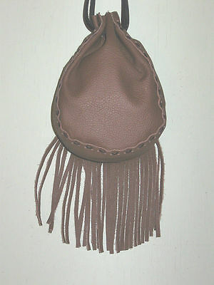 Wfgb-04 Brown Fringed Cow Leather Bag Free Shipping Within Usa
