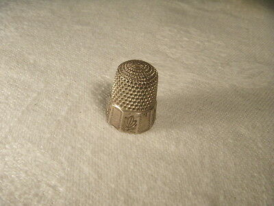 Beautiful Antique Estate Etched Sterling Silver Thimble