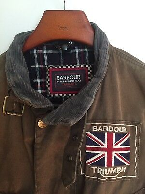 Barbour International Triumph Wax Cotton Jacket - Size XL - Used But Way Cool!