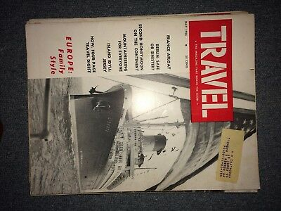 Vintage Travel Magazine History May 1954 France Afloat Jersey Europe Berlin