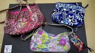 Vera Bradley Lot of 3 bags and 1 key chain wallet/change holder