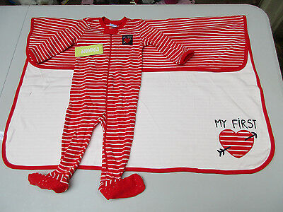 Gymboree Baby 6-9 Month My First Love One-Piece & Reversible Blanket NWT