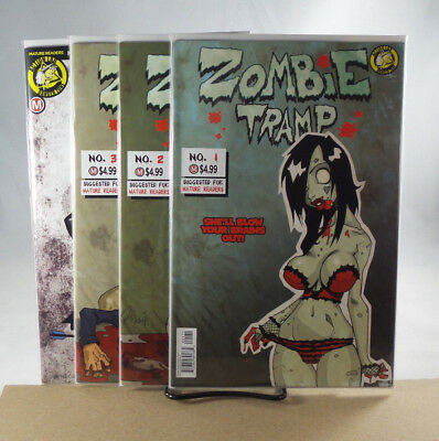 Zombie Tramp Origins #1 2 3 Replica & #4 Mendoza Cover Action Lab Comics 2017