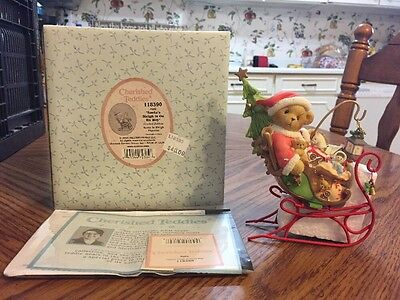"Cherished Teddies By Enesco #118390 ""Santa's Sleigh Is On its Way"" #MB"